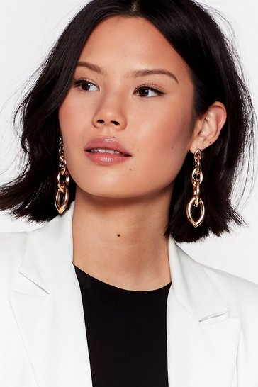 Gold Chain of Events Drop Earrings