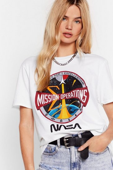 White Gonna Need Some Space NASA Graphic Tee
