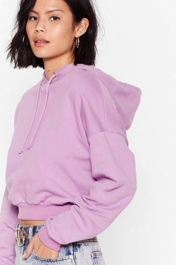 Purple Cropped Little Snug Riding Hoodie