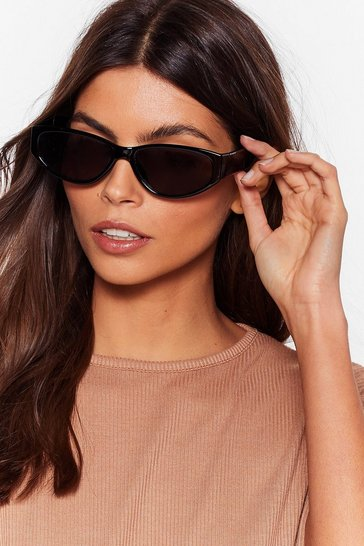Black Do You Like What You See Tinted Sunglasses