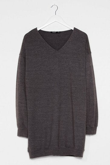 Charcoal Easy Does It Relaxed Longline Sweater