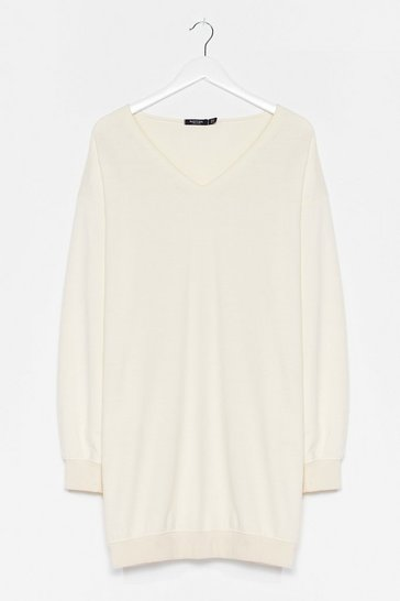 Cream Easy Does It Relaxed Longline Sweater