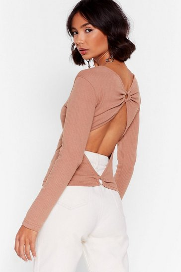 Camel O-Ring the Tequila Ribbed Knit Sweater
