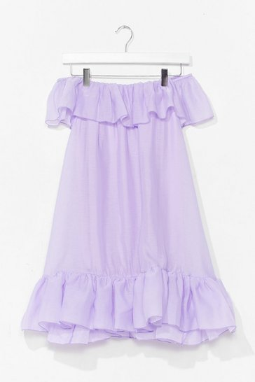 Lilac Frill You or Won't You Ruffle Mini Dress