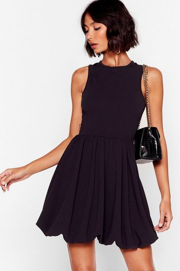 Black Racer You to the Bar Fit & Flare Mini Dress