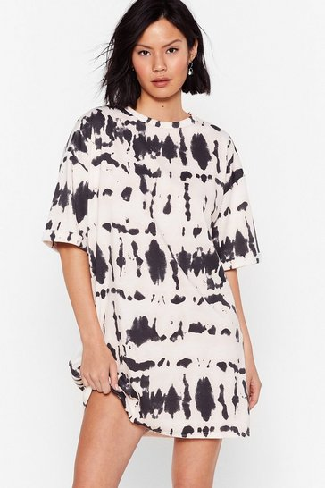 Nude Don't Ask Me Tie Dye Relaxed Tee Dress