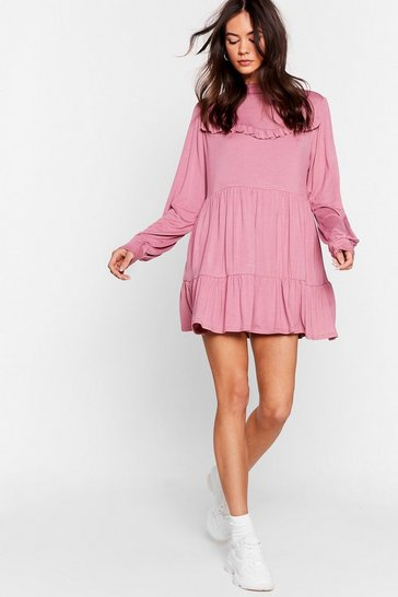 Rose Tier Comes Another Day Ruffle Mini Dress