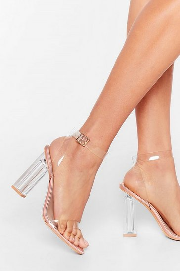 Champagne Let's Be Clear Satin Heels