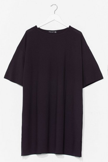 Black It's All About Tee Plus Ribbed Dress