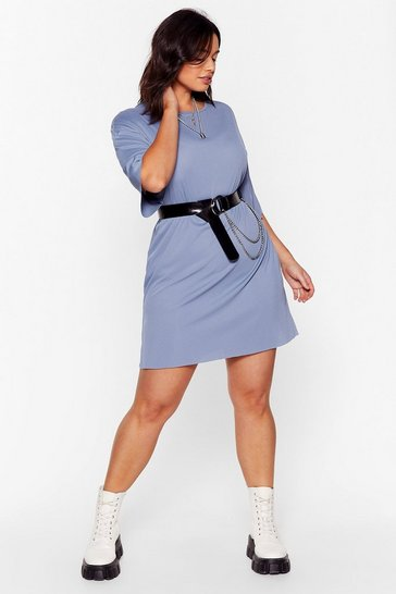 Blue It's All About Tee Plus Ribbed Dress