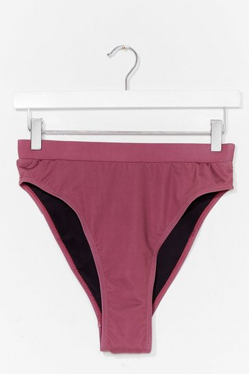 Mauve Give It a Glow High-Leg Bikini Bottoms