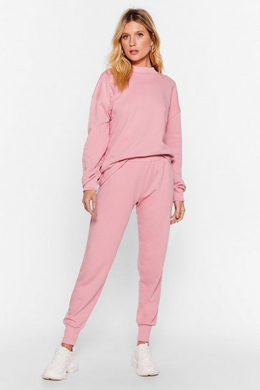 Blush Hold It Together Sweater and Joggers Lounge Set
