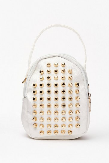 White WANT Stud a Chance Mini Backpack