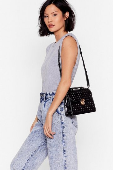 Black WANT Pin Pin Situation Studded Crossbody Bag