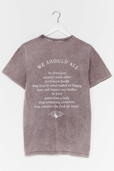 Grey We Should All Graphic Tee