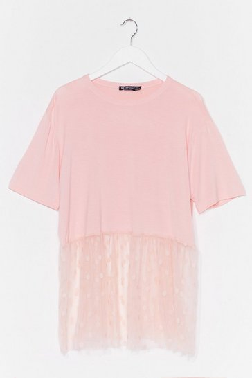 Blush Us and Hem Plus Polka Dot Top