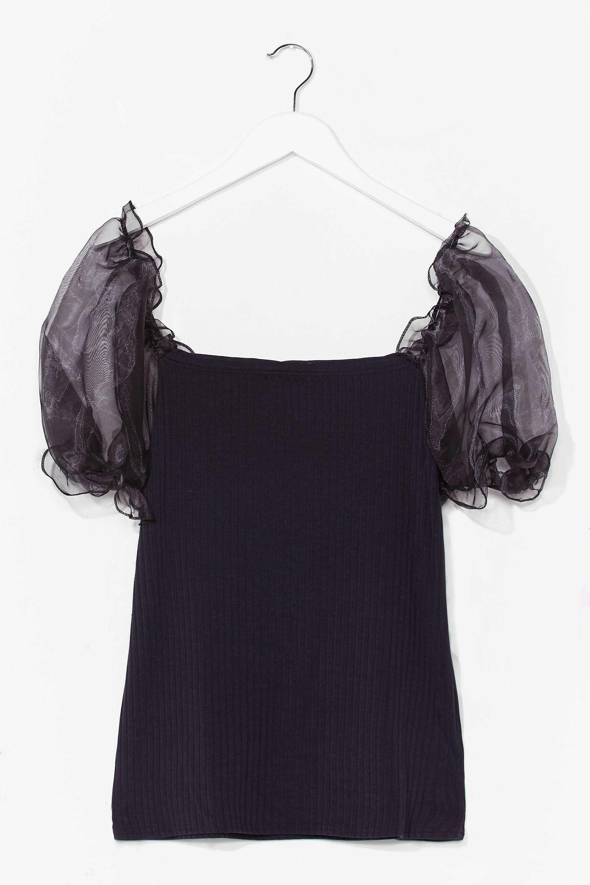 Catch a Preview Plus Organza Sleeve Top 8