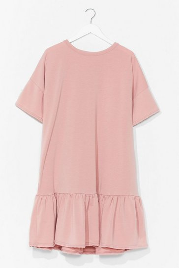 Blush Baby Frill Then Plus Mini Dress