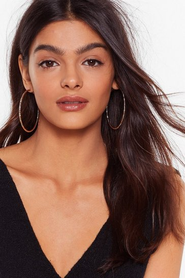 Gold I Like Textures Hoop Earrings