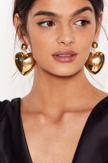 Gold She's Got a Big Old Heart Earrings