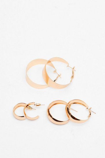 Gold Heard You Calling 3-Pc Hoop Earring Set