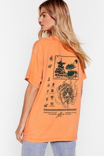 Orange Osaka Relaxed Graphic Tee