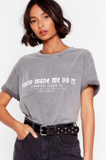 Grey Disco Made Me Do It Graphic Tee