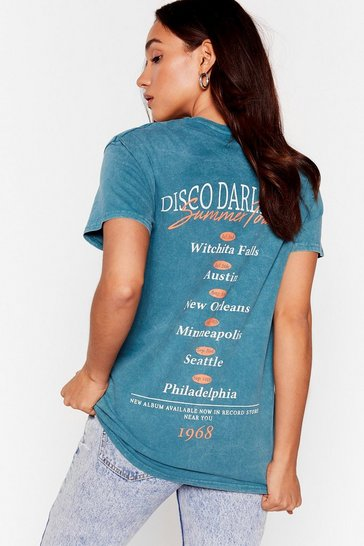 Green Disco Darlings Graphic Back Tee