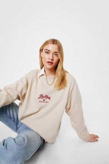 Sand New York Oversized Graphic Sweatshirt