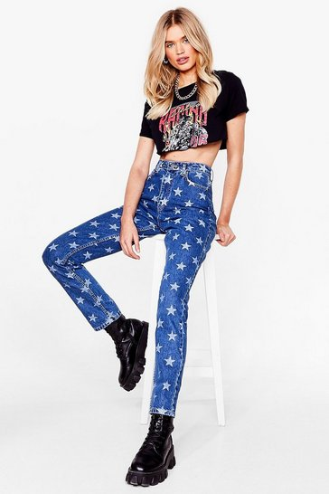 Dark blue Star-t Over High-Waisted Mom Jeans