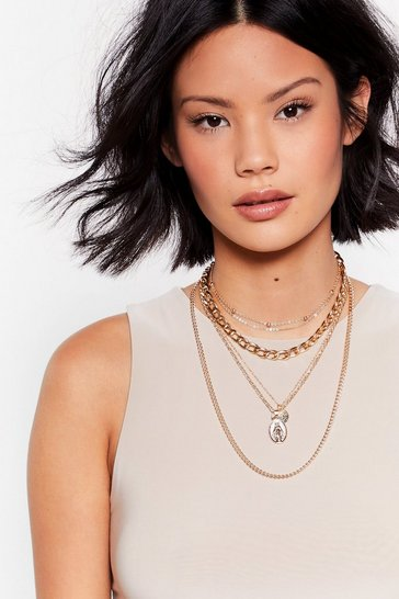 Gold Layer Eyes on This Layered Chain Necklace