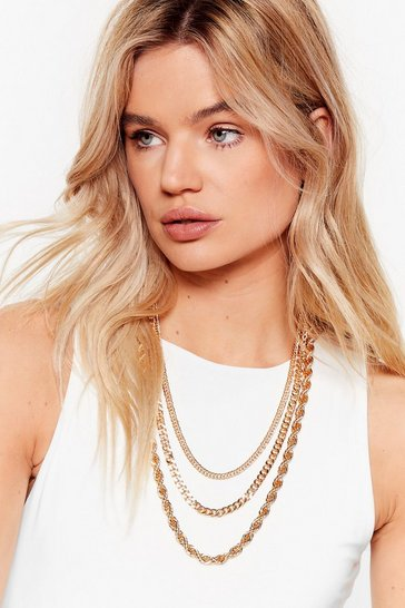 Gold Twist Their Words Layered Chain Necklace