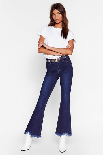 Indigo Raw It Coming High-Waisted Flared Jeans