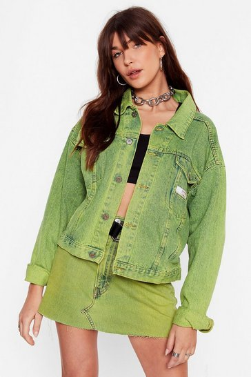 Lime Nasty Gal Vintage Dye-ing to See Ya Denim Jacket