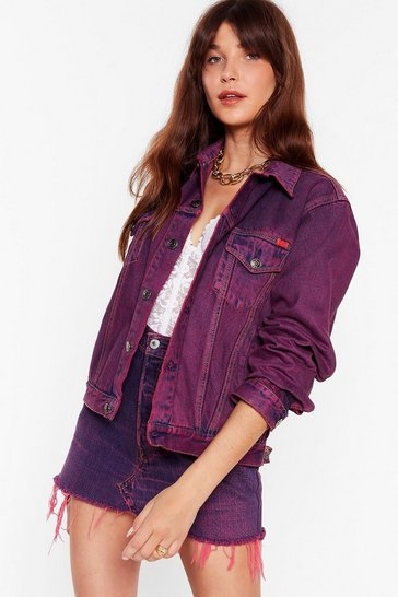 Pink Nasty Gal Vintage Dye-ing to See Ya Denim Jacket