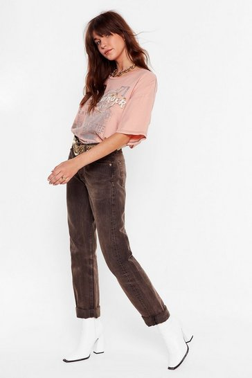 Ecru Nasty Gal Vintage What a Bleach Relaxed Jeans