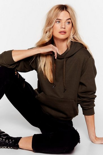 Khaki Day to Day Relaxed Hoodie
