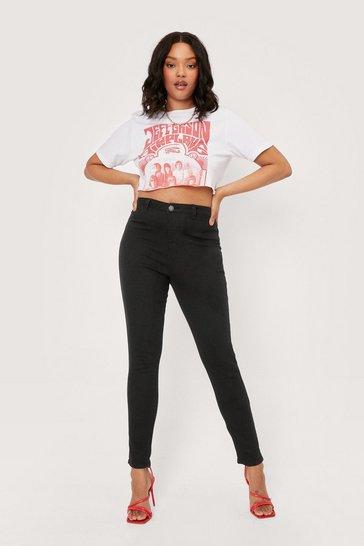 Black Plus High Rise Disco Fit Jean