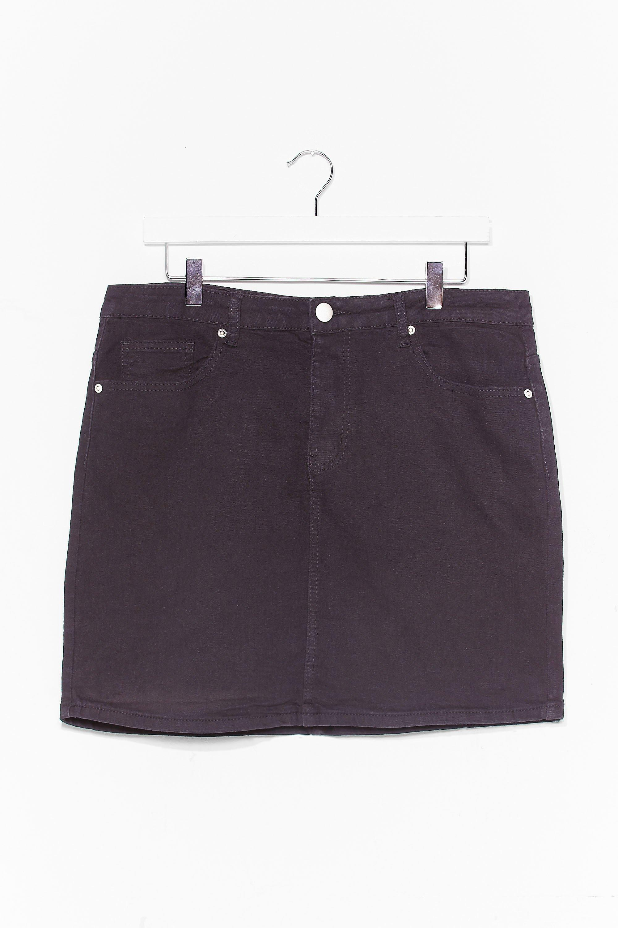 Be There in a Mini Plus Denim Skirt 8