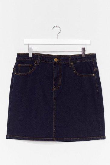 Dark blue Be There in a Mini Plus Denim Skirt