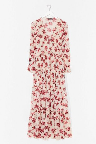 Nude Drop It Meadow Floral Maxi Dress