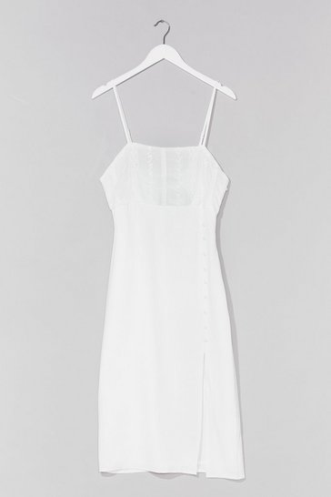White Feels Sew Good Broderie Anglaise Midi Dress