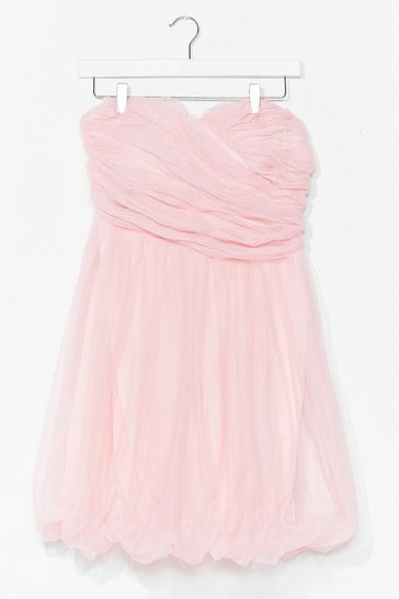 Baby pink Marshmallow Out Bandeau Mini Dress