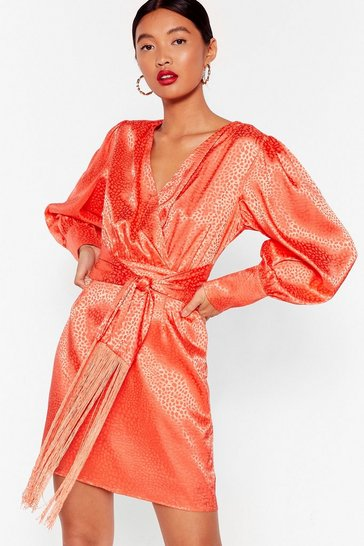 Orange My Wild One Jacquard Mini Dress