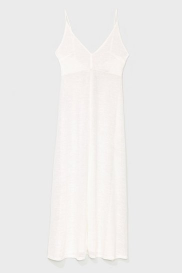 Cream Let's Knit the Beach Relaxed Maxi Dress