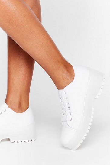 White Rock Your Sole Chunky Canvas Sneakers