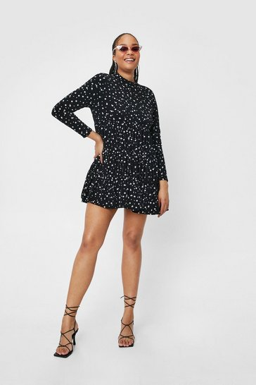 Black Tier and Now Spotty Mini Dress