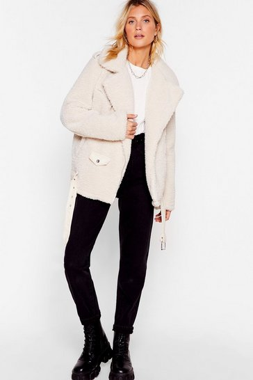 Teddy Oh Baby Faux Fur Coat, Cream