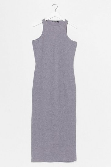 Grey Standards High Ribbed Midi Dress