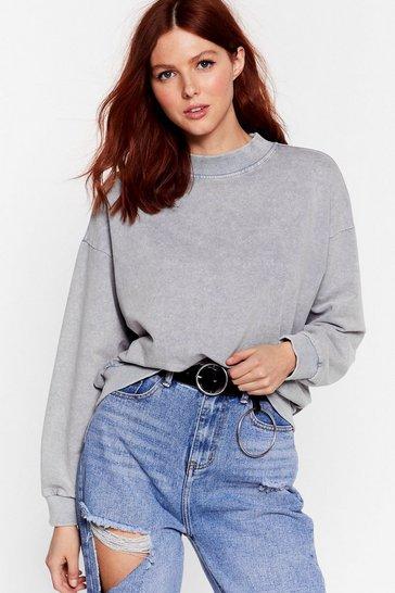 Grey Oh My Wash Relaxed Sweatshirt